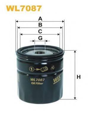 WIX FILTERS WL7087 Масляный фильтр