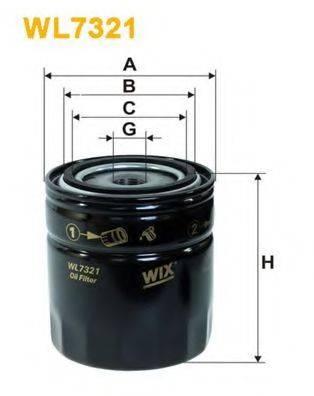 WIX FILTERS WL7321 Масляный фильтр
