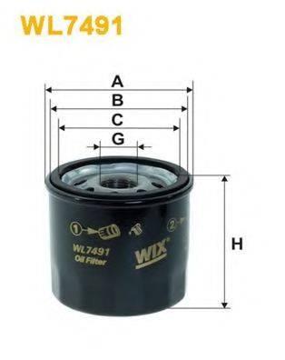 WIX FILTERSWL7491 WIX FILTERS WL7491 на CHEVROLET LOVA седан (T250, T2