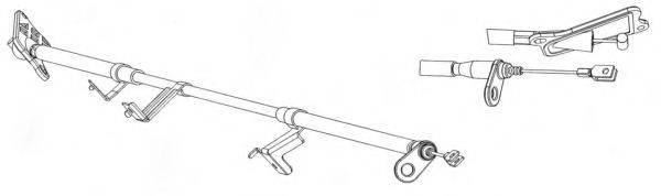 CEF NI02178 Трос, стояночная тормозная система