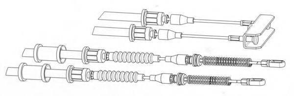 CEF OP02142 Трос, стояночная тормозная система