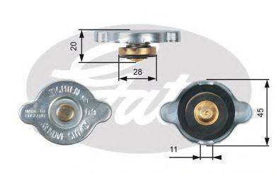 GATES RC124 Крышка, радиатор