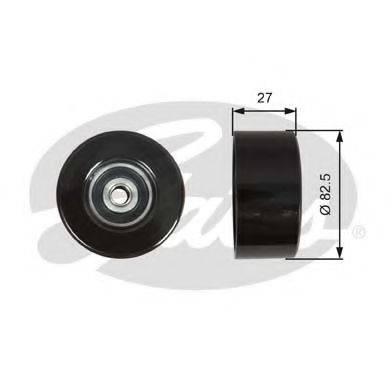 GATES T36608 Паразитный / ведущий ролик, поликлиновой ремень