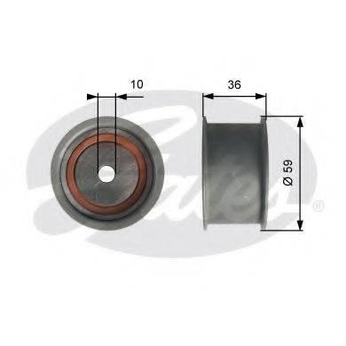 GATES T41227 Паразитный / Ведущий ролик, зубчатый ремень