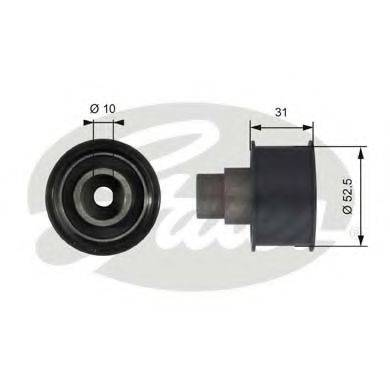 GATES T42080 Паразитный / Ведущий ролик, зубчатый ремень