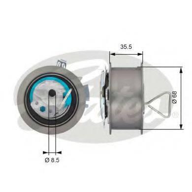GATES T43091 Натяжной ролик, ремень ГРМ