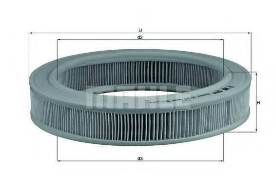 KNECHT LX203 Воздушный фильтр