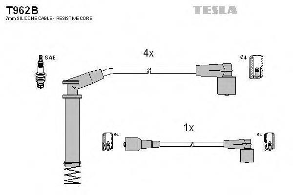 TESLA T962B Комплект проводов зажигания