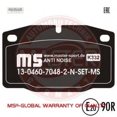 MASTER-SPORT 13046070482NSETMS Комплект тормозных колодок, дисковый тормоз