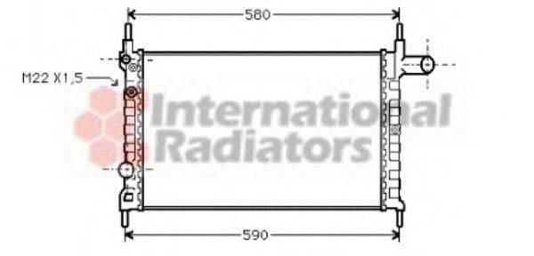 VAN WEZEL 37002150 Радиатор, охлаждение двигателя