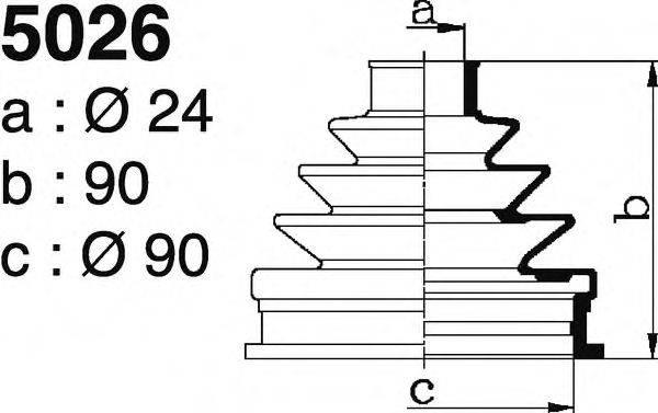 DEPA 5026 Комплект пылника, приводной вал
