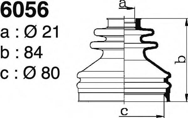 DEPA 6056 Комплект пылника, приводной вал