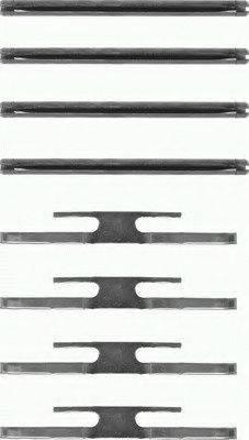 TEXTAR 82019100 Комплектующие, колодки дискового тормоза