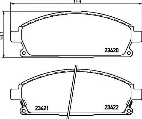 TEXTAR 2342001 Комплект тормозных колодок, дисковый тормоз