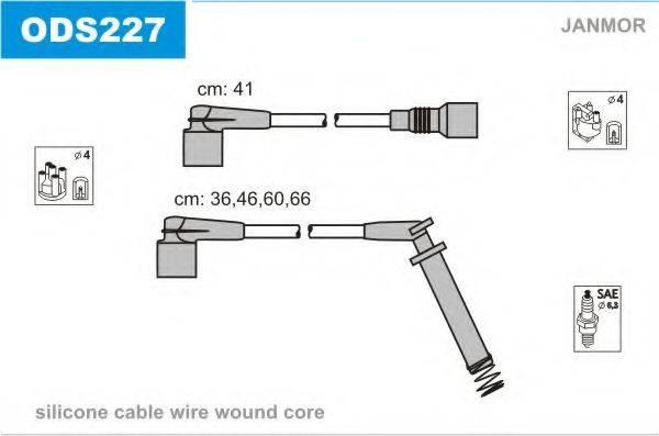 JANMOR ODS227 Комплект проводов зажигания