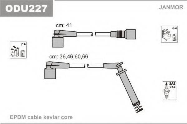 JANMOR ODU227 Комплект проводов зажигания