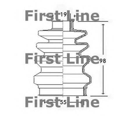 FIRST LINE FCB2418 Пыльник, приводной вал