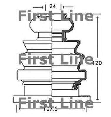 FIRST LINE FCB2682 Пыльник, приводной вал