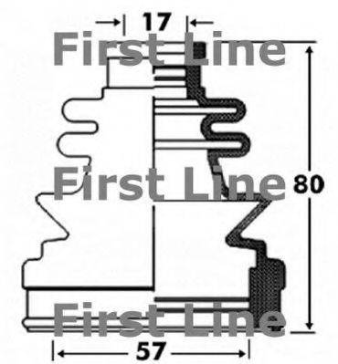 FIRST LINE FCB2855 Пыльник, приводной вал