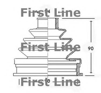 FIRST LINE FCB2240 Пыльник, приводной вал