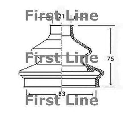 FIRST LINE FCB2333 Пыльник, приводной вал