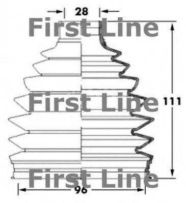 FIRST LINE FCB6032 Пыльник, приводной вал