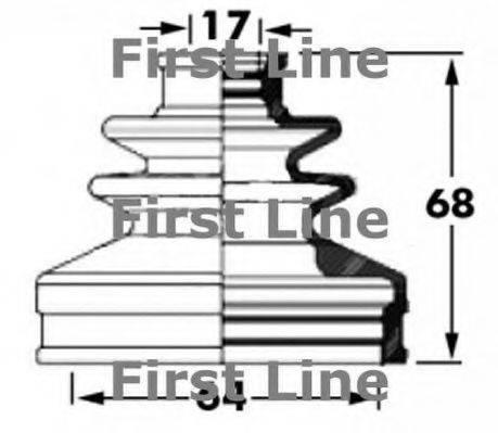 FIRST LINE FCB6035 Пыльник, приводной вал