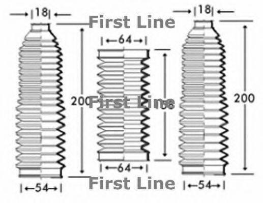 FIRST LINE FSG3221 Пыльник, рулевое управление