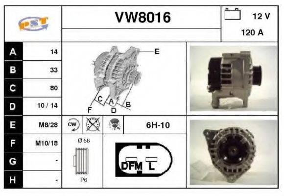 SNRA VW8016 Генератор