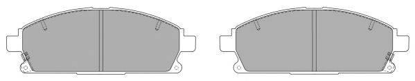 FREMAX FBP0790 Комплект тормозных колодок, дисковый тормоз