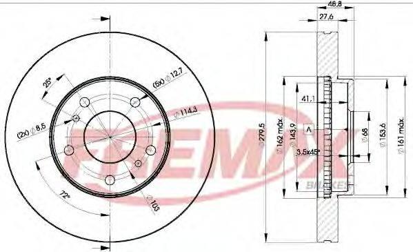 FREMAX BD4103 Тормозной диск