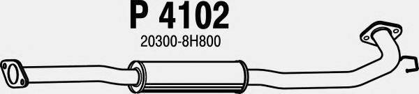 FENNO P4102 Средний глушитель выхлопных газов