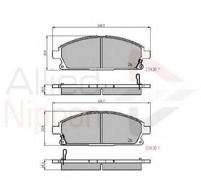 COMLINE ADB3591 Комплект тормозных колодок, дисковый тормоз