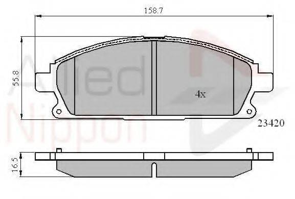 COMLINE ADB0591 Комплект тормозных колодок, дисковый тормоз