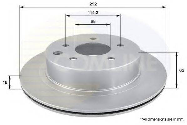 COMLINE ADC0272V Тормозной диск