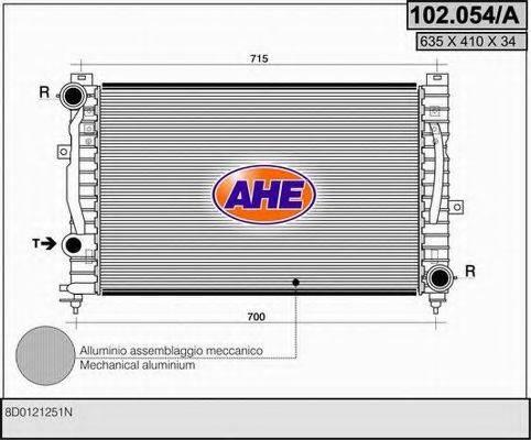 AHE 102054A Радиатор, охлаждение двигателя