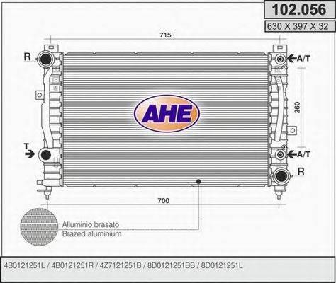 AHE 102056 Радиатор, охлаждение двигателя