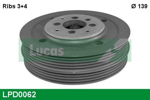 LUCAS ENGINE DRIVE LPD0062 Ременный шкив, коленчатый вал