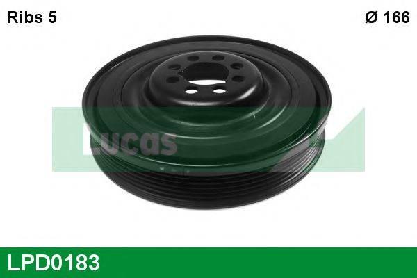 LUCAS ENGINE DRIVE LPD0183 Ременный шкив, коленчатый вал