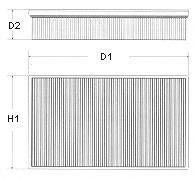 CHAMPION U657606 Воздушный фильтр