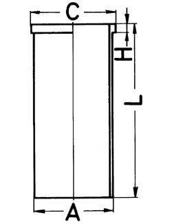 KOLBENSCHMIDT 89432190 Гильза цилиндра