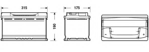 DETA DB800 Стартерная аккумуляторная батарея; Стартерная аккумуляторная батарея