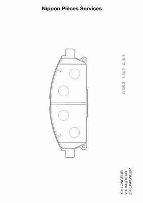 NPS N360N15 Комплект тормозных колодок, дисковый тормоз