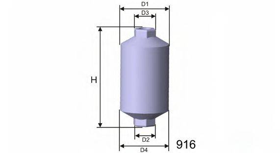MISFAT E506 Топливный фильтр
