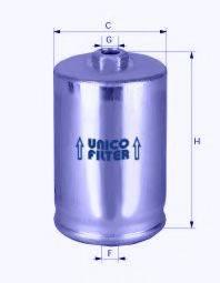 UNICO FILTER FI7126 Топливный фильтр