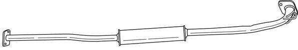 SIGAM 38456 Средний глушитель выхлопных газов