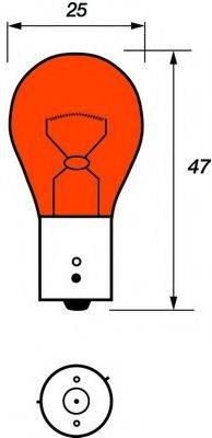 MOTAQUIP VBU581 Лампа накаливания, фонарь указателя поворота; Лампа накаливания, дополнительный фонарь сигнала торможения