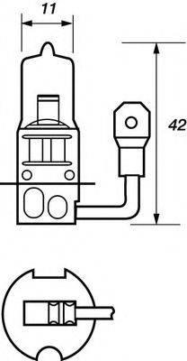 MOTAQUIP VBU453 Лампа накаливания, фара дальнего света; Лампа накаливания, основная фара; Лампа накаливания, противотуманная фара