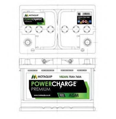MOTAQUIP VBZA96 Стартерная аккумуляторная батарея