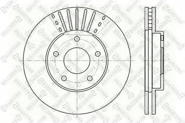 STELLOX 60202256VSX Тормозной диск